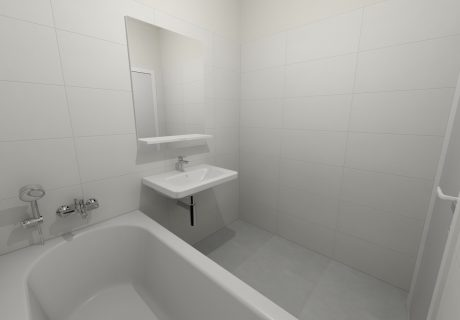 Fotka galérie Vizualicázie toalety a kúpelní v bytových domoch - 4